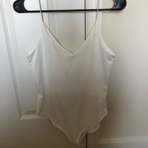 GAZE white bodysuit